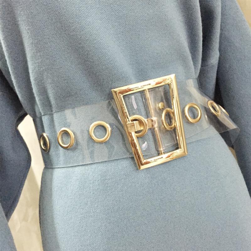 Taille de la taille de la taille de la taille de la taille de la taille de la taille de la taille des femmes pour femmes Trapézoïde Gold Boucle large Corset Cummerbunds Big Robe Belt 2020 LJ200921