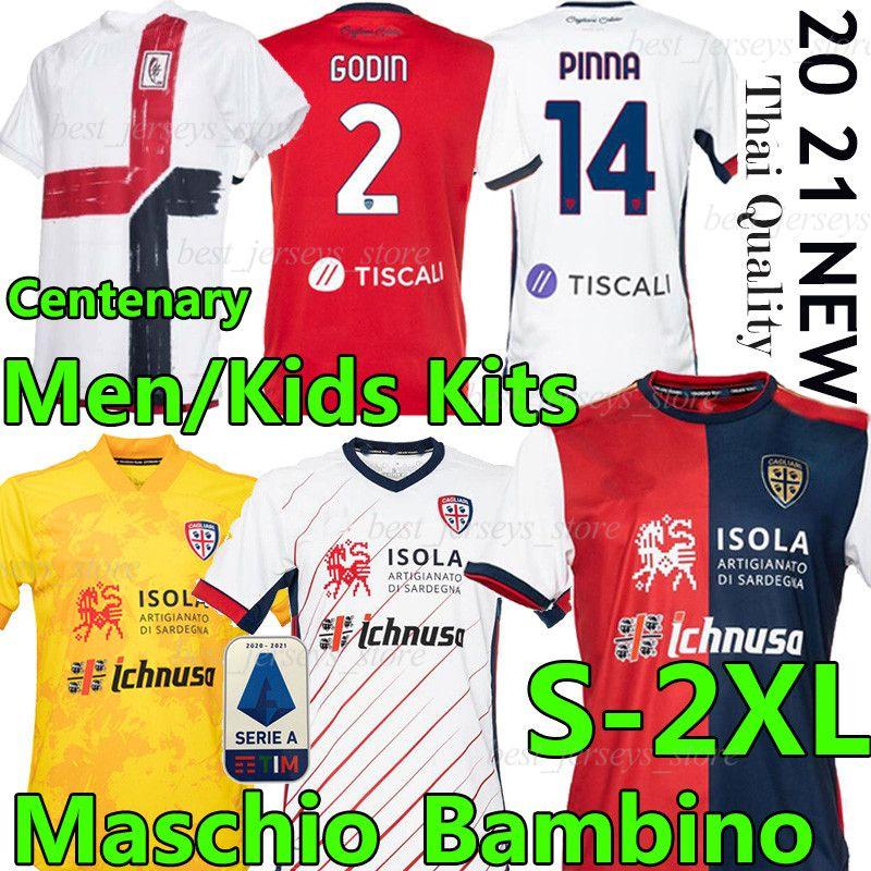 20 21 CAgliari Calcio Soccer Jerseys Hunderthundertsatz Joao Pedro Limited Edition NaingGolan 2020 2021 Maglie dajubiläumsfußball-Hemd