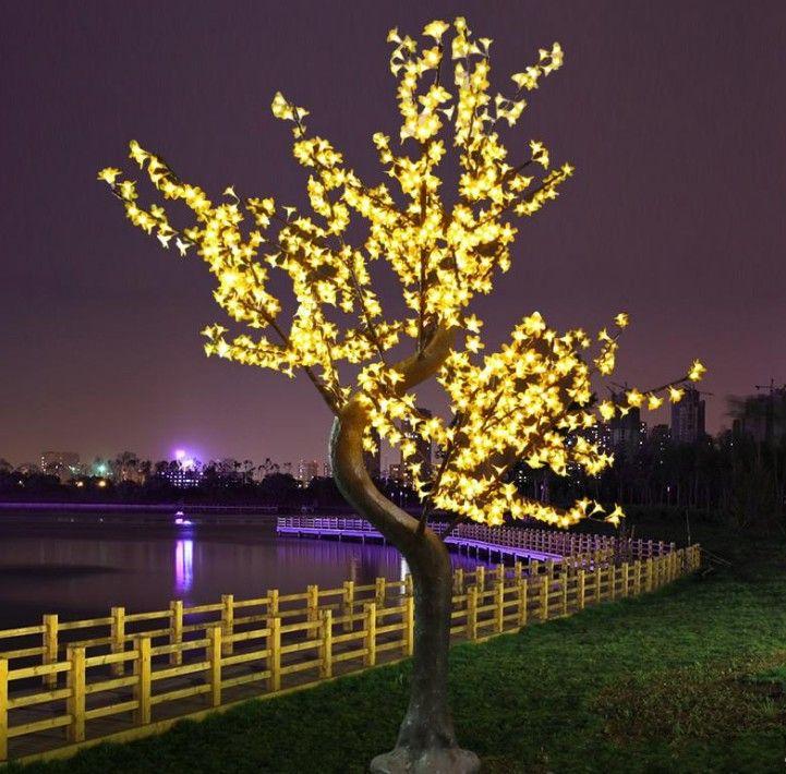 Светодиодные изделия из искусственного вишневого дерева светлый рождественский свет 1152 шт. Светодиодные лампы 2M / 6.5ft Высота 110 / 220VAC Rainways Outdoor