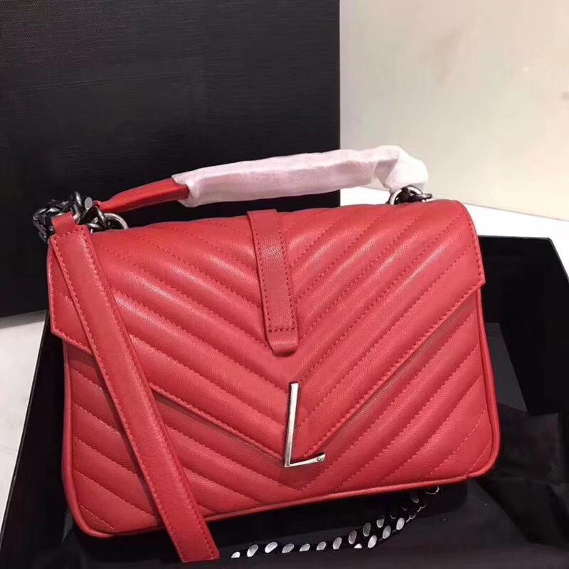 Cadenas Handbag 7A Calidad de moda Cuero genuino Bolsa de gama alta Flap Hombro Nuevas bolsas genuinas Moda 392737 Cuero Navidad Lxafa