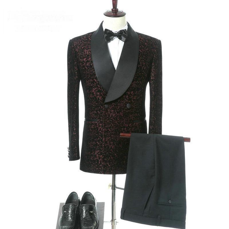 Nuevo diseño Double Breasted Trajes de boda para Hombres Slim Fit Tuxedo Formal Elegant Brand Men Traje Traje Homme Terno Masculino