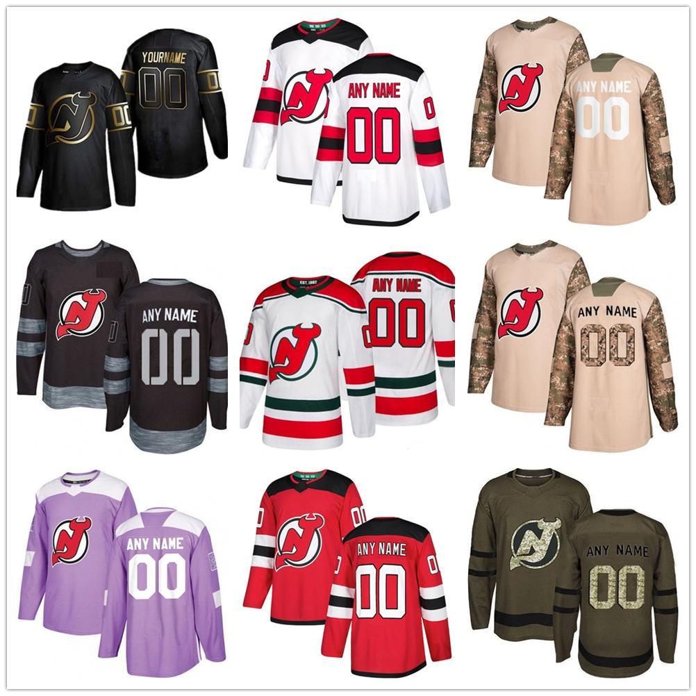 사용자 정의 2020 뉴스 새로운 유니폼 악마 하키 유니폼 여러 스타일 남성 (35) SCHNEIDER GREENE 사용자 임의의 숫자 하키 유니폼 모든 이름