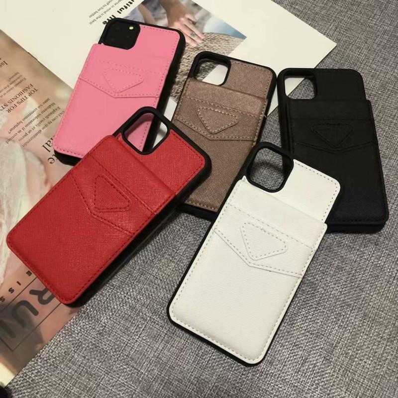Nouveaux cas de téléphone de mode pour iPhone 12 11Pro MAX XR XS MAX 7 8 Plus Coque pour Galaxy S20 S10 Note 20 10 Couverture de téléphone design de cuir
