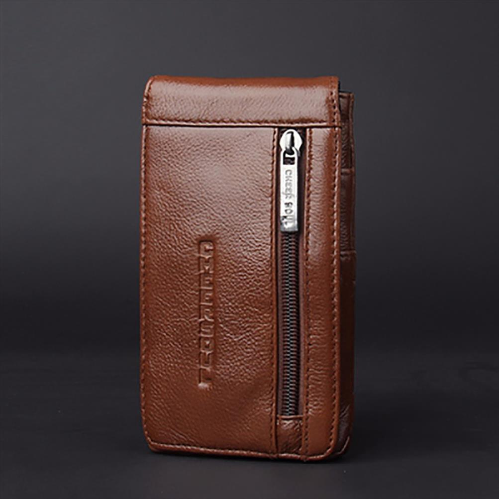 Nova Moda Couro Homens Casual cintura Bag gancho do cinto Bloco de Fanny Male Hip Bum Bolsa Pouch celular Mobile Phone Case Capa
