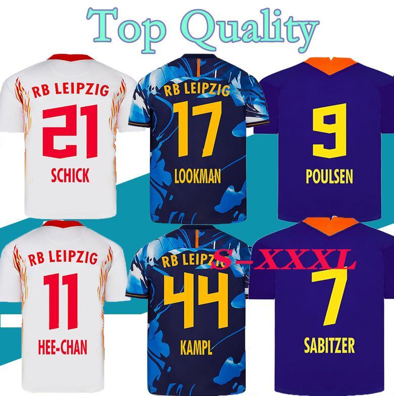 S-XXL 20 21 Soccer Jersey home away third WERNER Camiseta HEE-CHAN Maillot HALSTENBERG SABITZER 2020 2021 Football Shirt Kits CUNHA Uniform
