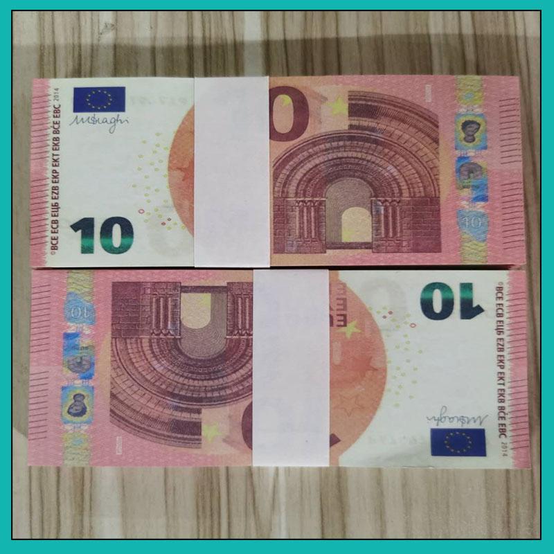 10 Euro transfrontaliera all'ingrosso nuovi giochi forniture atmosfera del bar, recitazione, forniture dramma, banconote gioco di valuta euro prop 36