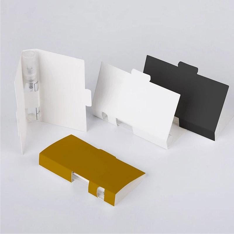 2ml 3ml 5ml 유리 plsatic 향수 스프레이 병 종이 홀더 세관을위한 포장 상자