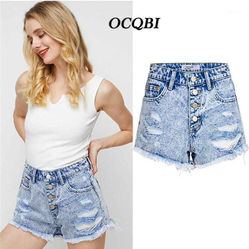Talla grande 2020 Jeans Mujer angustiada Alto cintura jeans Pantalón Skinny Sexy Moda Shorts1