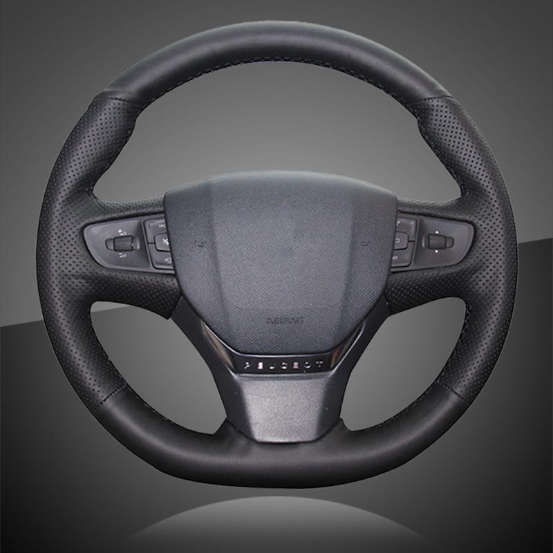 Рулевое колесо покрывает автоматический оплет на крышке для 408 2014-2021 интерьера автомобильной укладки автомобиля