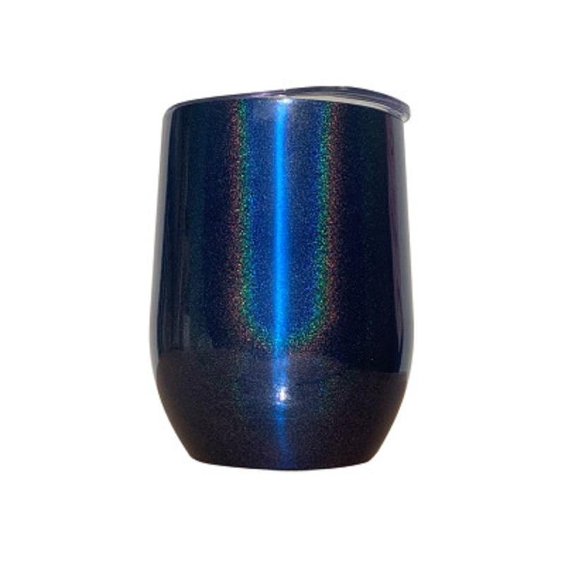 10 couleurs de Glitter Vin Tumbler avec Couvercles Straws en acier inoxydable arc-en-forme d'oeuf tasse à double paroi isolé sous vide Tasse en verre RRA3511