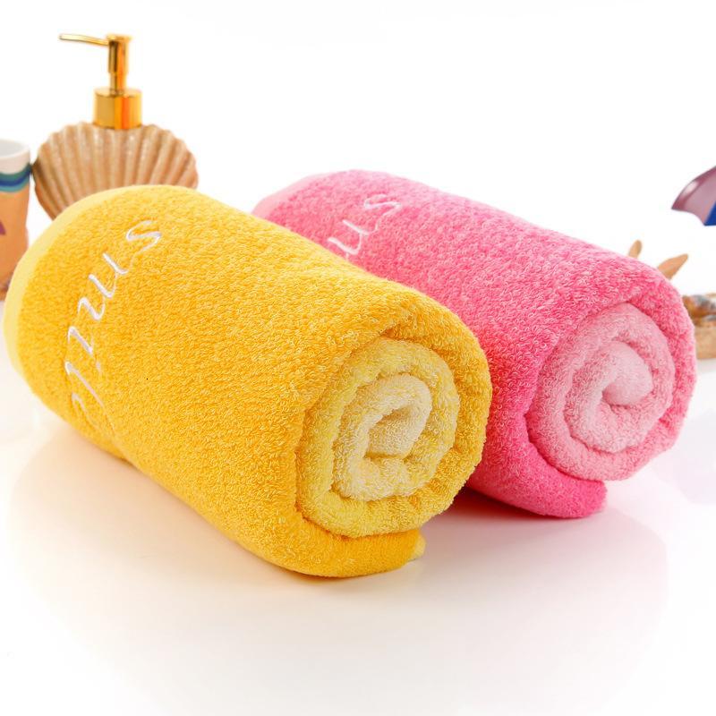 2020 Fábrica de envío gratis Outlets de fábrica de toallas de algodón amarillo degradado de rosa degradado creativo casero bordado amantes regalos al por mayor toalla HY1231