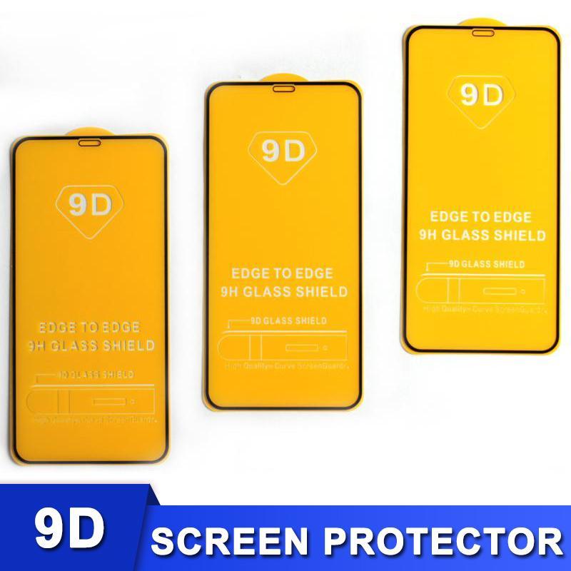 iPhone 12 용 강화 유리 화면 보호기 12 미니 11 Pro Max XS X XR Samsung Huawei 패키지가없는 풀 커버