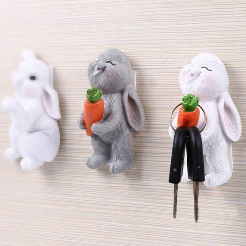 Симпатичные стены крюк Key Pin волос держатель Организатор Декоративное Организатор Cartoon d Holder новый