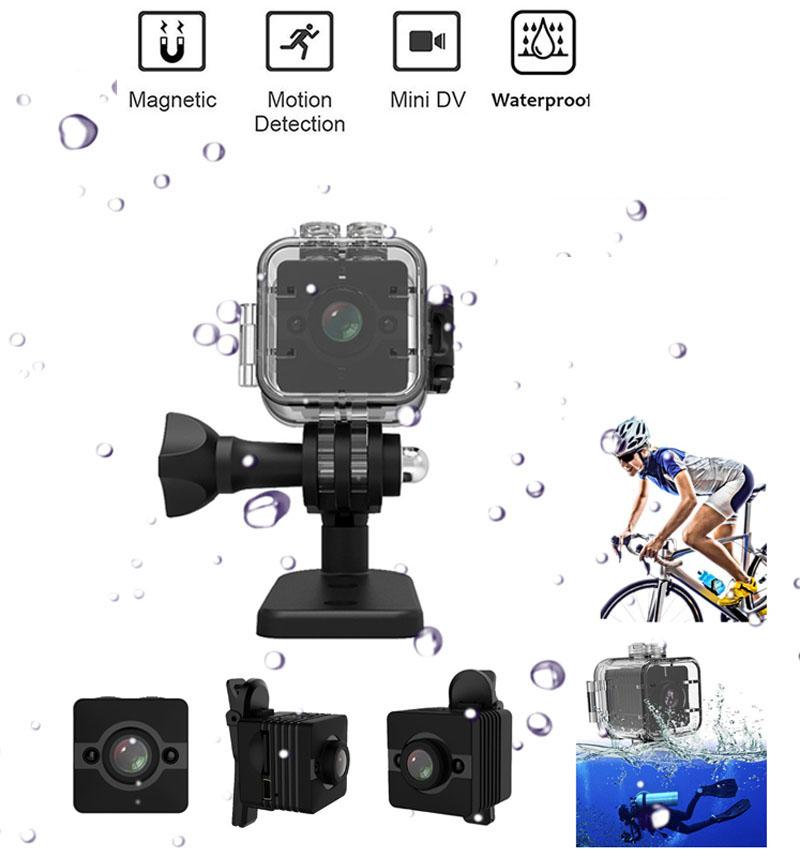 Waterproof Camcorders Mini Camera HD 1080P SQ12 DV Outdoor infrared Sports Recorder Camera SQ 12 Night Vision Small Video Cameras Cam