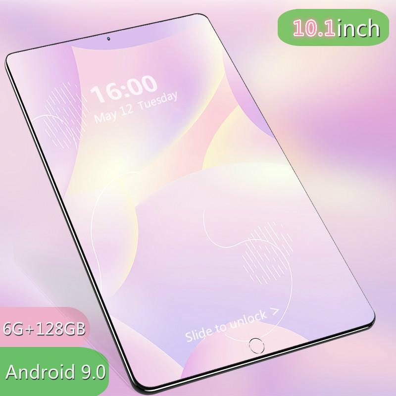 2021 novo presente de 10,1 polegadas 6g + 128gb tablet tf cartão bluetooth global wifi tablet android 9.0 10 dez núcleo dual cartão android