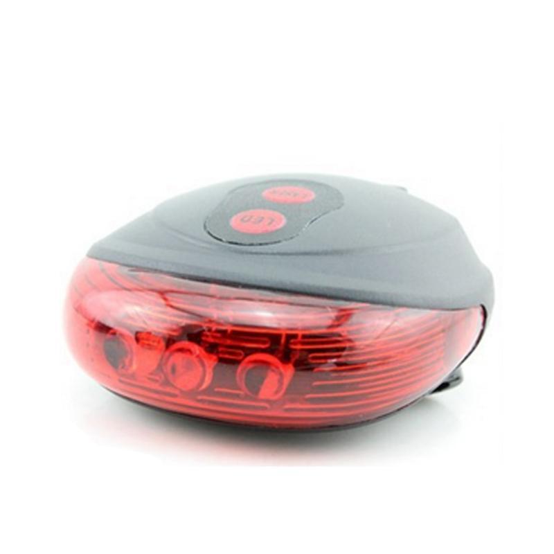 Venta caliente Bicicleta LED Luz 2 Láseres Noche Montaña Bicicleta Cola Luz Tras Light Seguridad Advertencia Bicicleta Lámpara trasera