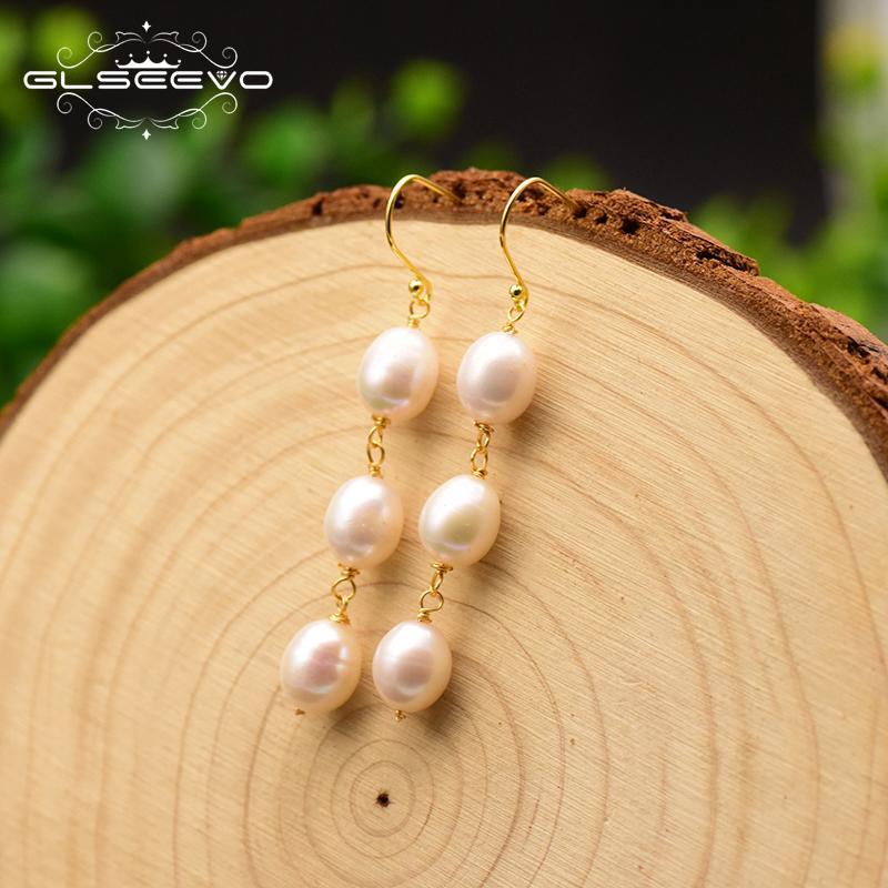 GLSeevo Acqua fresca perla lunga goccia orecchini per le donne moglie regalo orecchini minimalisti gioielli BOUCLE D'OREILLE Femme 2019 GE0778