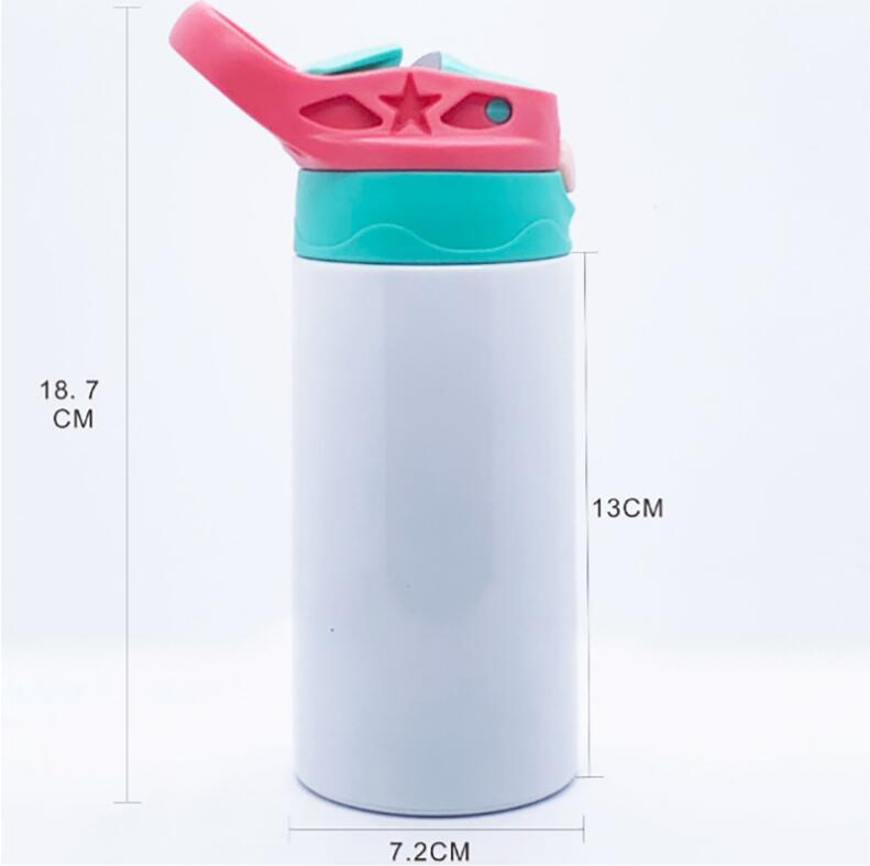 텀블러 SEA 해운 CCA12598를 마시는 빨대 뚜껑 스테인레스 스틸과 12 온스 빈 승화시피 컵 6 색 350 ㎖ 어린이 물병