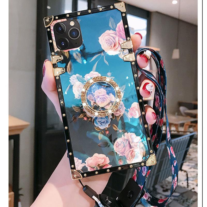 Suitable for iPhone 11 12 Pro Max XS XR X 6 6 s 7 8 Plus, luxury designers ladies fashion diamond box
