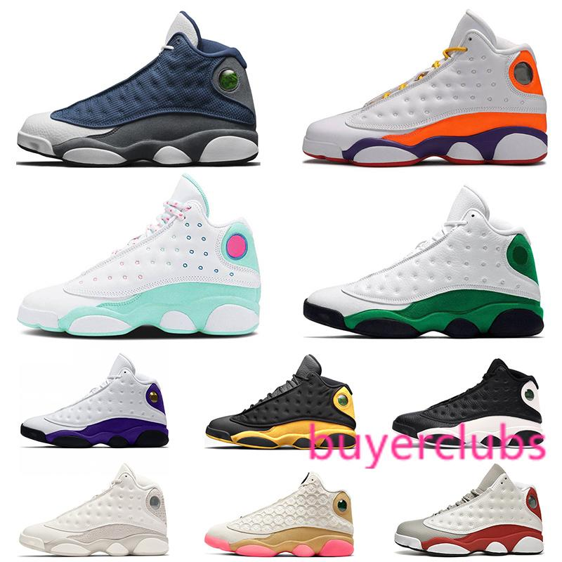 Remise Jumpman 13 13s Chaussures de basket-ball Flint Playground Green Island Chicago Formateurs Hommes Sports Athlétiques Sneakers Taille 36-47