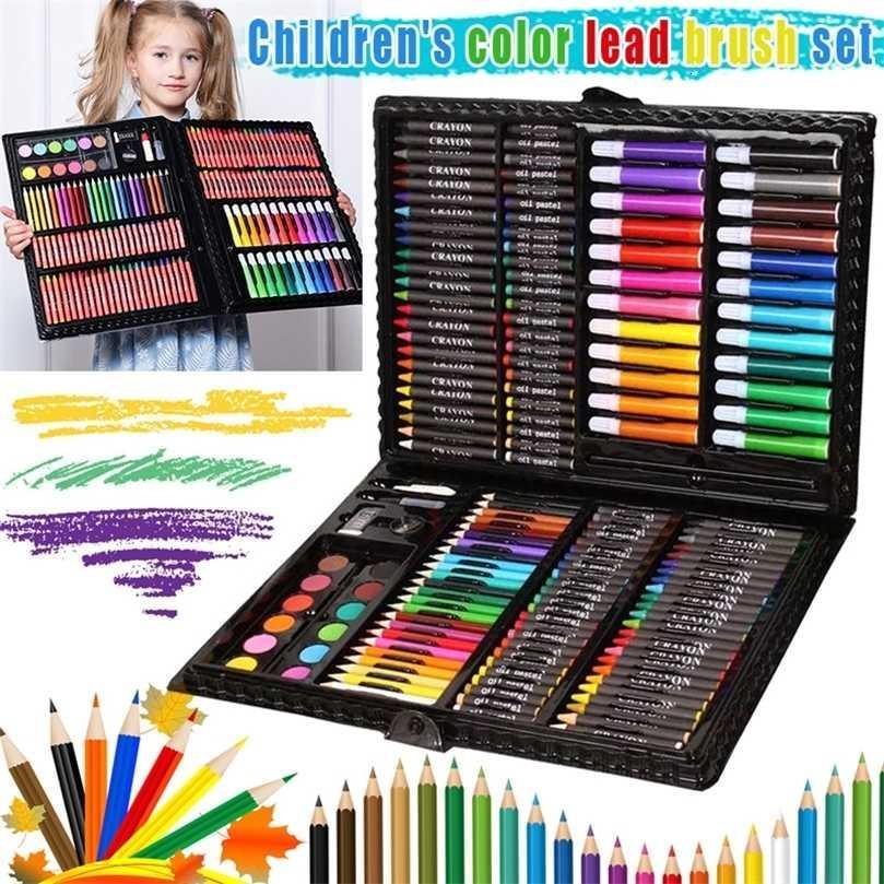1 desenho pintura caixa de arte definida lápis de cor portátil para crianças crianças iniciantes puo88 201223