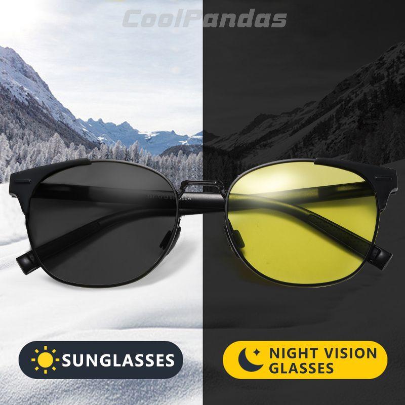 Men Photochromic Round Day Discoloration Women Intelligent Glasses Night Gafas Polarized Driving Sunglasses Vision De Sol Hombre Oqdpl