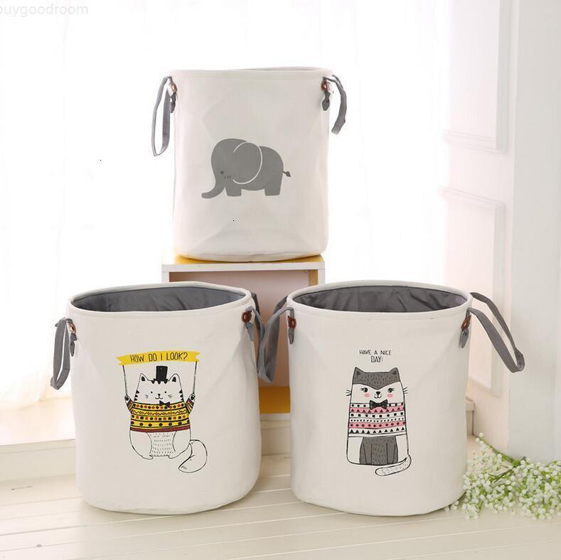 Engrossado saco sacos de armazenamento de roupas brinquedos cestas de armazenamento EVA balde crianças sala de algodão lavandaria double de armazenamento