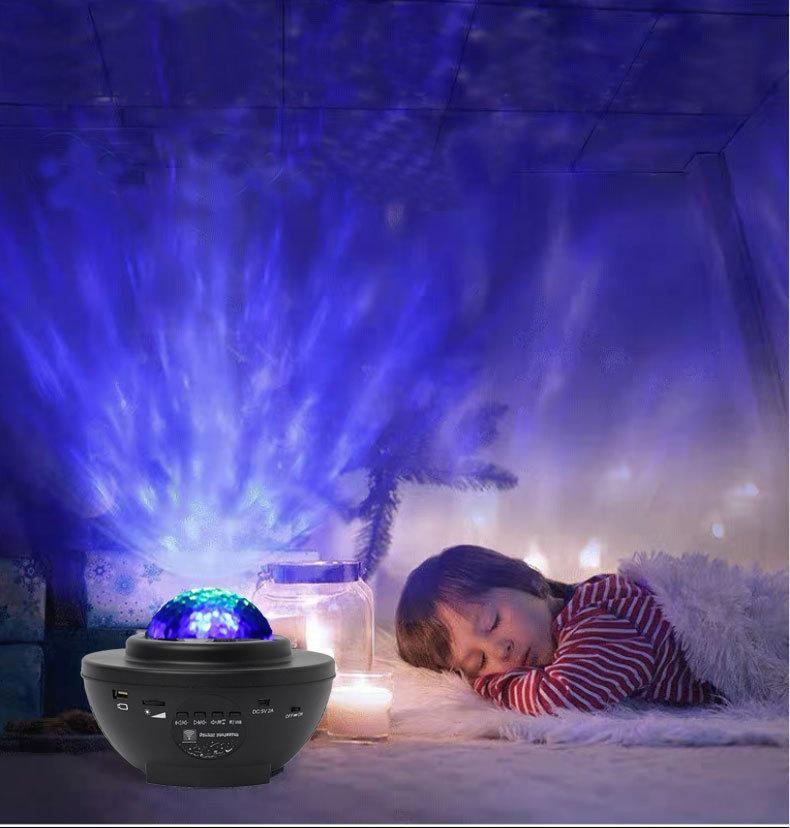 Remote Night Light Projector Bluetooth Christmas Galaxy For Starry Colorful 10 Light Scene Decorations LED Kids Party Room Speaker Game Twqc
