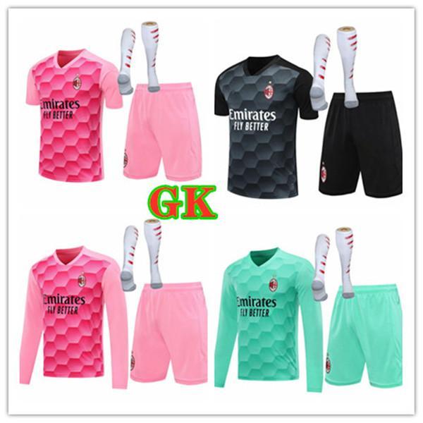 20 21 Donnarumma Ibrahimovic Goleiro Futebol Jerseys Paqueta Bennacer Romagnoli Donnarumma 2020 2021 Theo Rebic GK Maillot Camisa de futebol