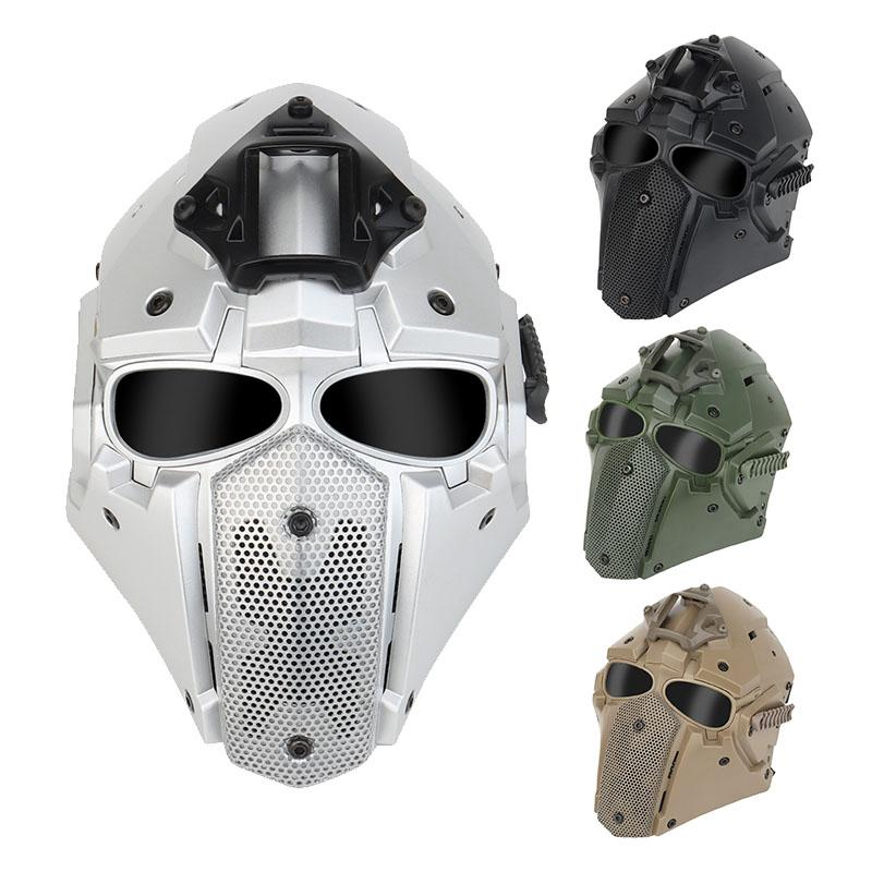 Airsoft all'aperto Shooting Face Protection Gear Gear Tactical Airsoft Helmet Fast Full Face Mask P03-126