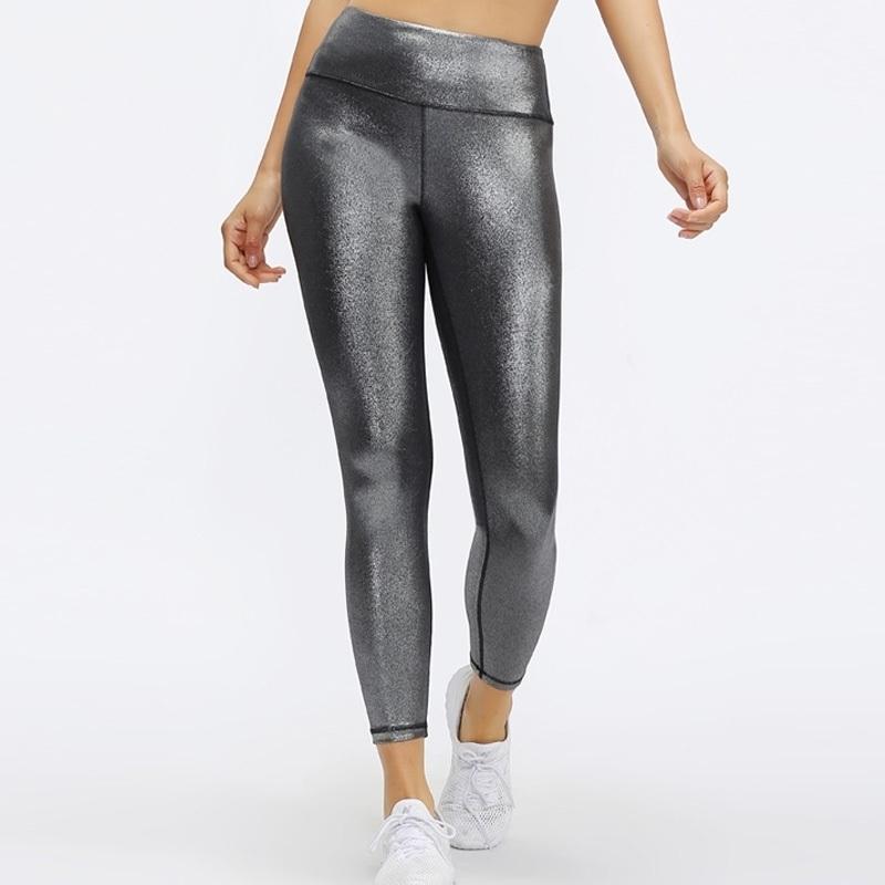 Pantalon d'entraînement de la texture enduit de la texture maternelle pour femmes avec leggings stretch maigre Y200328