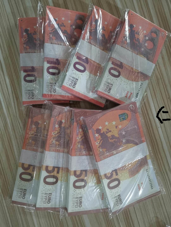 Grenzüberschreitende E-Commerce 10 Eurosess-Fabrik verkauft Banknoten, Banknoten, Spielzeuglehrhilfen, gefälschtes Geld