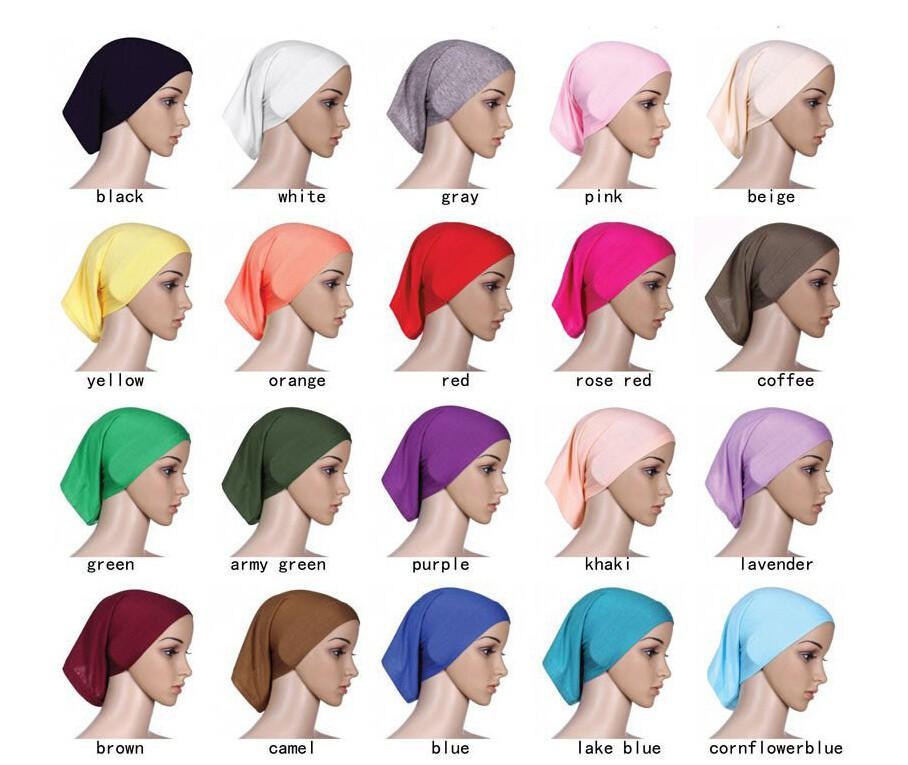 kadınlar İslam boru iç kapak toptan islam Hijab 10 adet / çok için Toptan 2020 Müslümanın hijab kısa Hijab