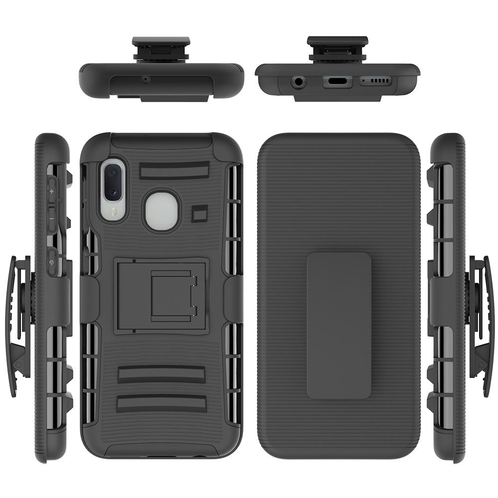 Holster Belt Clip Silicone Case for Samsung Galaxy A51 A11 A21 Note 9 A20 A30 A50 A10E A20E Rugged Armor Shockproof Cover Kickstand