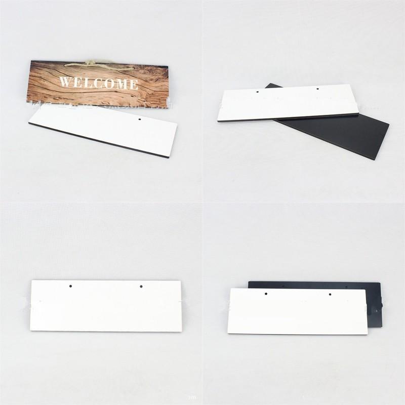 Sublimazione Blank Blank Number Plate Rettangolo Appeso Home Indirizzo Segno Bianco MDF DOOR Numeri Plates in legno 7 95bd G2