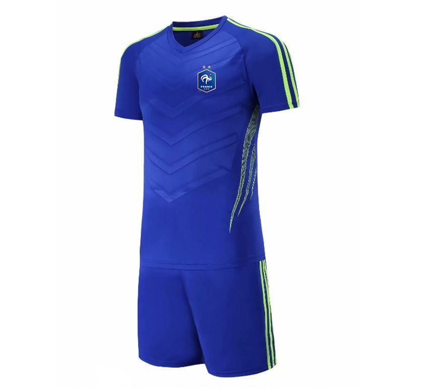 20/21 New France National Men's football team Jersey Kids Soccer Training Set Soccer Pant Adult Outdoor Sportswear Summer Suits