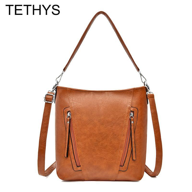 Large Capacity TETHYS Crossbody Women For Bags Messenger Quality Soft Bag High Tote For Women Bags Leather Bolso Mujer Sac Femme Rcprf