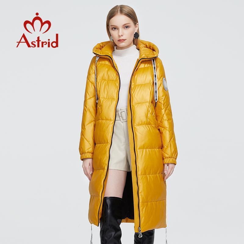 Femme's Down Parkas Astrid 2021 Manteau d'hiver Femmes Chaud Longue Parka Fashion Jaune Jaune Jaquette Capuche Grandes tailles Vêtements Zr-3568