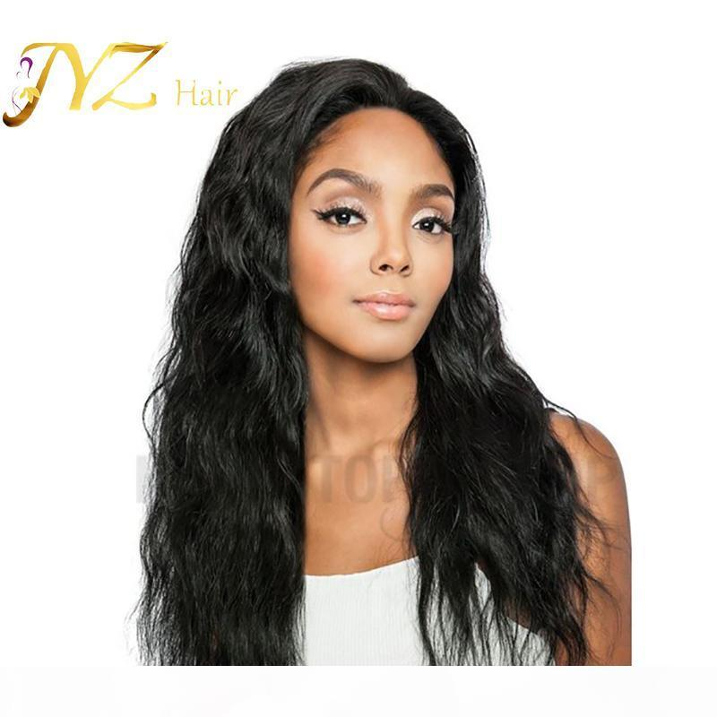 Malaysian Natural Wave 360 Lace Frontal Wigs Cap Pre Plucked With Baby Hair Remy Human Hair Wigs Natural Black For Woman