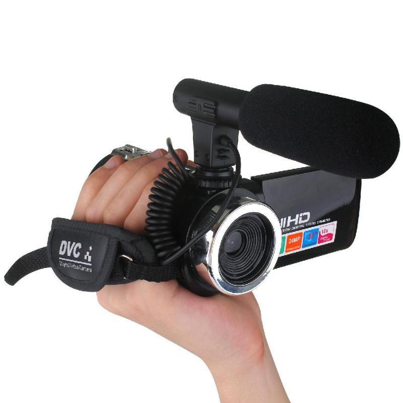 PROFESIONAL 4K HD Videocámara Video Cámara de video Visión nocturna 3.0 pulgadas LCD Pantalla táctil Cámara 18x Zoom digital con micrófono