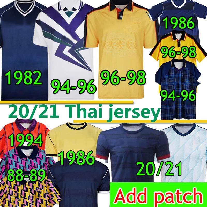 اسكتلندا الرجعية Soccer Jersey World Cup Classic Vintage 1982 1986 1994 1996 1998 جديد 20 2021 الصفحة الرئيسية Scotland Men Kids Kits Football Shirts