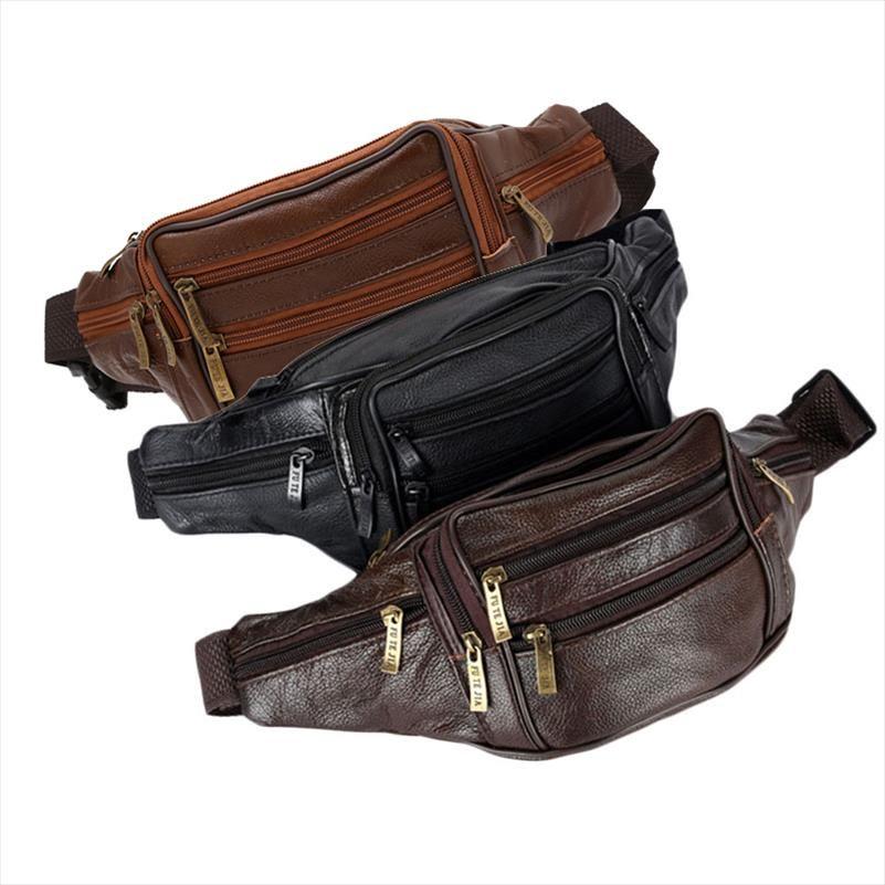 bel çantası THINKTHENDO Erkek Vintage Deri Çantası Bel Paketi Kılıfı Motosiklet Yeni Drop Shipping İyi Kalite