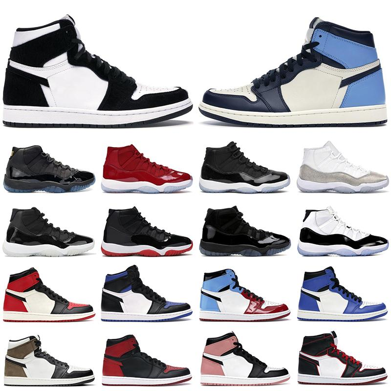 air jordan 1 retro 11 basketball shoes aj1 Scarpe da basket da uomo 1s High OG jumpman Mid Chicago UNC Twist Obsidian 11s 25th Anniversary Bred Concord sneakers da donna da uomo