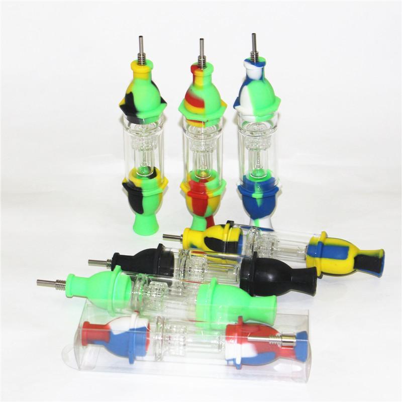 Новое поступление Nectar Collector с титановым наконечником для ногтей DAB нефтяные установки стекло и силиконовые трубы для курения кальян
