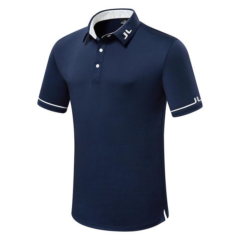 Camicia da golf manica corta da uomo estate JL Abbigliamento sportivo all'aperto T-shirt da golf sportivi Spedizione gratuita