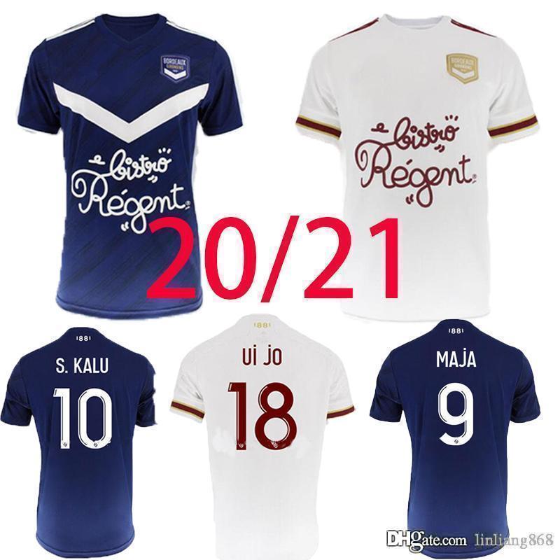 Girondins de Bordeaux Accueil Jersey de football 2020 2021 Maja Oudin Arfa T.Basic S.Kalu Soyez maillot de chemise de football Hommes