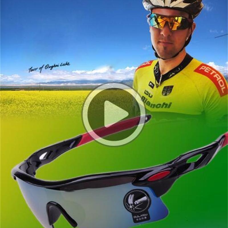 Männer Fahrrad Radfahren Sonnenbrille Radfahren Coole Radfahren Sport Schutzfarben Goggle Brillengläser UV400 Sonnenbrillen A +++ 12 Reiten Ugfwe