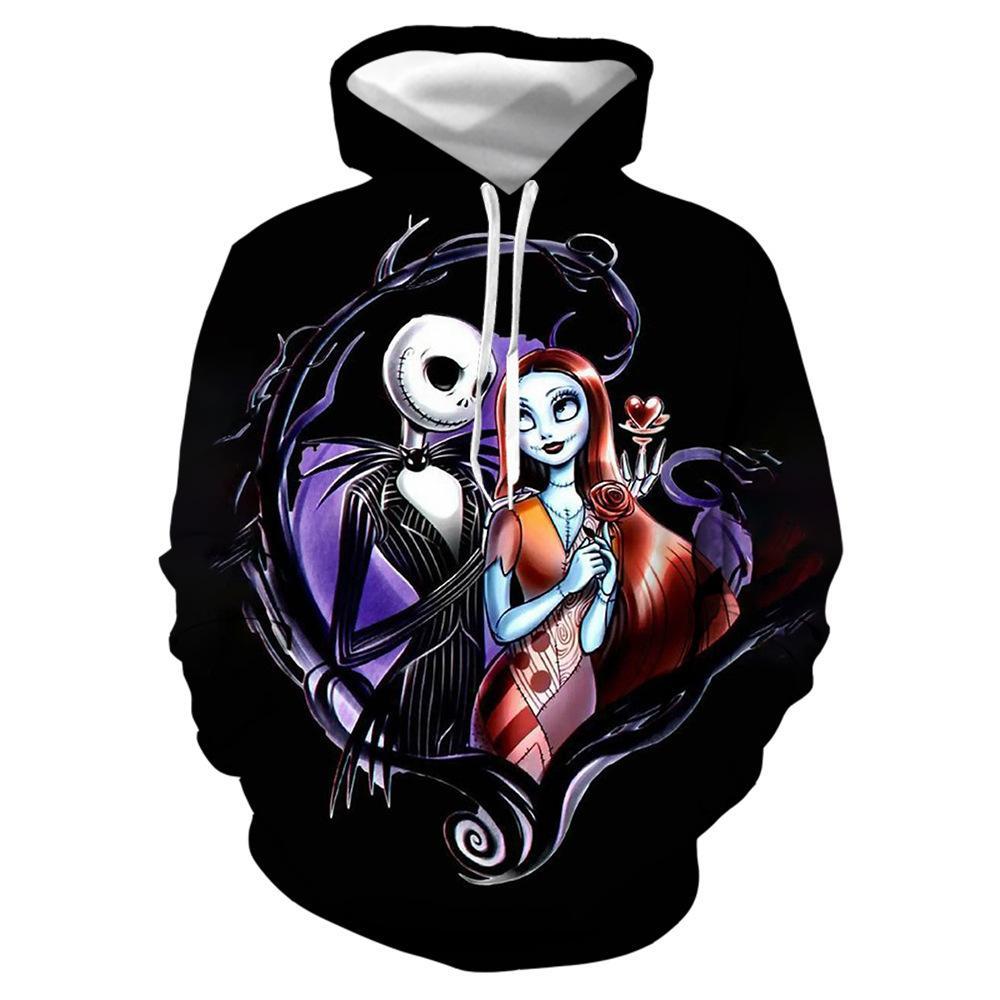 Christmas Halloween Costumes à capuche Mode Cosplay Skull Hoodie Hommes Femmes Avant les Sweatshirts Pull Du Nightmare Jack Tops Vfjxq