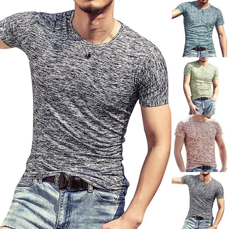 Moda Torriditer Erkekler T Shirt Spor Giyim Üst Tees Erkek Giyim 2020 Kollu Rahat O Boyun Pamuk Ince Spor Tişört Erkekler