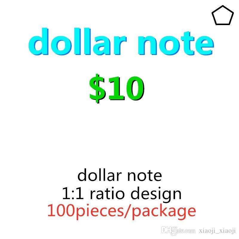 Jugar 10 Familia Bandemático Dólar Realista Billet 09 Money Faux 100pcs / Pack Prop Paper Money Moving Copy Kids Toy Uts Most Sporc